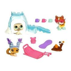 Littlest Pet Shop Arctic Adventure Playpack with 3 Pets by Hasbro. $41.17