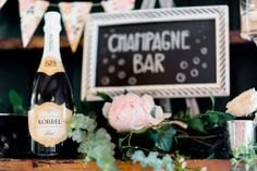 Champagne Bar || Design and Planning by Harvest Moon Events | Photo by Carla Boecklin Photography
