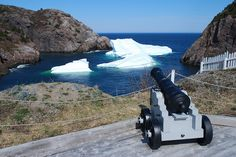 This was actually one giant iceberg, until a shot from that cannon broke it into three. From spring of 2012 in Quidi Vidi Gut. (Photo by Geoff Meeker) #iceberg #quidi vidi