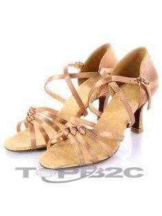 Fantastique Cuticolor Satin 3'' haut talon Womens latine Shoes      Groupe: Femme     Occasion: Danse latine     Hauteur de Talon: 7.5cm     Type de Talon: Bobine     Bout de Chaussures: Ouvert     Couleur affichée: Marron     Poids: 1kg