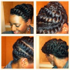 A 15 Minute Flat Twists Updo For Textured Hair - Black Hair Information Community
