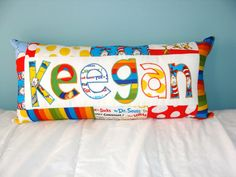Custom Dr. Seuss Name Pillow