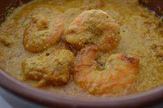 Curry de langostino con leche de coco