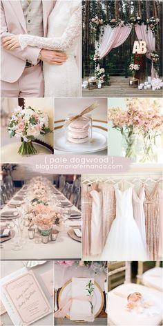Decoração de Casamento : Paleta de Cores Pale Dogwood | Blog de Casamento DIY da Maria Fernanda