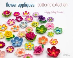 Searching for the perfect crochet applique pattern items? Shop at Etsy to find unique and handmade crochet applique pattern related items directly from our sellers. Crochet Puff Flower, Crochet Sunflower, Sunflower Pattern, Crochet Flowers, Flower Applique Patterns, Crochet Patterns, Crochet Tutorials, Unique Crochet, Beautiful Crochet