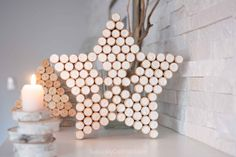 If you're looking for wine cork crafts, this gorgeous sparkling star decor idea is easy to make and perfect for the Christmas holidays and year-round!