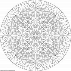 Tribal Mandala Coloring Pages #261