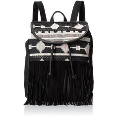 Dolce Girl Aztec Fringe Shoulder Bag (€21) ❤ liked on Polyvore