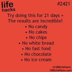 Life Hacks) This is practically everything I eat. I'd die of starvation before the 21 days are doneThis is practically everything I eat. I'd die of starvation before the 21 days are done Simple Life Hacks, Useful Life Hacks, Cool Hacks, Life Hacks For Girls, Easy Hacks, Sport Fitness, Health Fitness, Fitness Diet, Health Diet