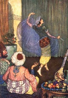 Arabian Nights illustrated by Milo Winter (1914)