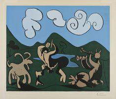 Faunes et Chèvre   Pablo Picasso, Faunes et Chèvre (1959)