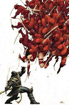 Elektra and the Ninjas by Leinil Yu.