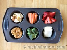 Cute kids food ideas and muffin tin meals for little picky eaters (and for me, since I'm wildly indecisive and the idea of 6 different snacks sounds great)