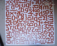 composizioni di lettere dipinte - Cerca con Google