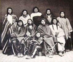 Arikara students upon arriving at Hampton Normal and Agricultural Institute in Virginia - 1878