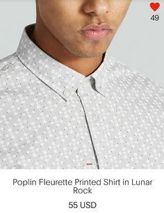 Poplin Fleurette Printed Shirt in Lunar Rock @FrankandOak