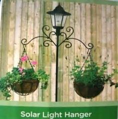 Solar Lamp Post With Hangers
