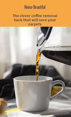 The clever coffee removal hack that will save your carpets Marble Jar, White Towels, Utensil Holder, Hard To Get, Start Writing, Real Simple, Save Yourself, Coffee Cans, Cleaning Hacks