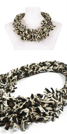 Super fashionable animal-print statement necklace - Have fun with this colorful knotted piece. In collaboration with fashion designer RODRIGO PINTOS