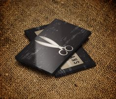 Hair stylist scissors logo silver and black business card reheart Image collections