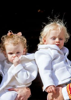 royal sass: Princess Gabriella & Prince Jacques of Monaco #princess gabriella #prince jacques #monegasque princely family #royaltyedit #monaco national day #monaco nd 2016 #royal siblings #mine #Ella's curls are so cute!!!