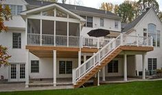 2 story deck with screened in porch - Google Search
