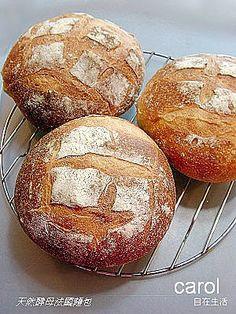 Carol 自在生活 : 天然酵母全麥法國麵包French Crusty Bread - Natural yeast