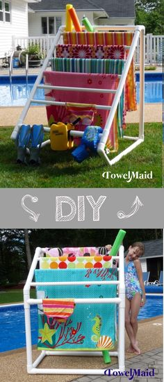 Time to take control of your swim area? TowelMaid can help. DIY plans available at TowelMaid on Etsy.