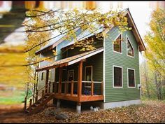 Green House in the Woods | A Two - Story Home Built by Bear Creek Builders - YouTube