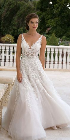 Jeweled Wedding Dresses And#8211; Trend For 2016 ❤ See more: http://www.weddingforward.com/jeweled-wedding-dresses/ #weddings