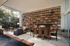 vaste meuble bibliothèque tout en bois