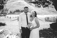 """""""I loved how my gown went from detailed lace at the top to a softer fabric at the bottom. and the back of the dress was beautiful as well. Soft Fabrics, Gowns, Couple Photos, Lace, Wedding, Beautiful, Dresses, Vestidos, Couple Shots"""