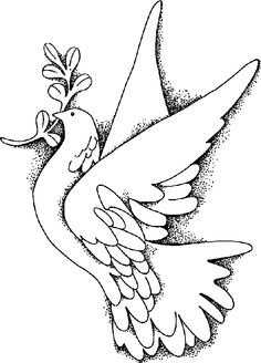 Flying Dove coloring page:   Religion   Pinterest   Christening gowns