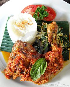 Asian food - grilled spicy chicken