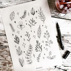 Learn botanical line drawing with E-book by 🌿😊✨ . Bullet Journal Aesthetic, Bullet Journal Ideas Pages, Bullet Journal Inspo, Easy Doodle Art, Doodle Art Drawing, Drawing Tips, Botanical Line Drawing, Floral Drawing, Sketch Note
