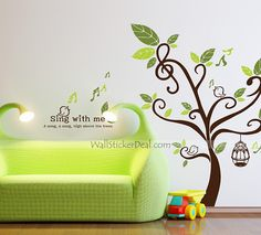 Sing With Me High Above The Tree Wall Sticker