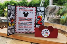 Mickey Mouse Invitation by BlissfullyNoted on Etsy, $30.00