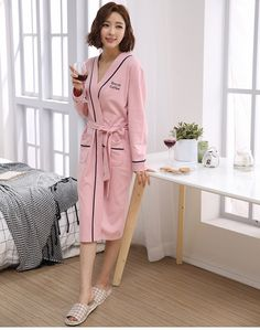 Cotton Couples Robes For Women Man Great Fabric Full Sleeve Knee-Length Letter Pattern One-Set Home Sleepwear Couple Pajamas, Letter Patterns, Blue Dresses, Lettering, Couples, Coat, Fabric, Sleeves, Jackets