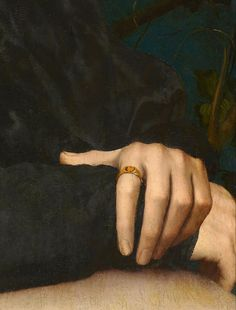Beautiful hands. Hans Holbein the Younger.Portrait of Derich Born,detail,1533.