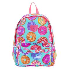 <P>Make everyone at school notice your sassy style with this super bold and bright donut backpack.</P><UL><LI>2 zippers<LI>Adjustable straps <LI>Handle</LI></UL>