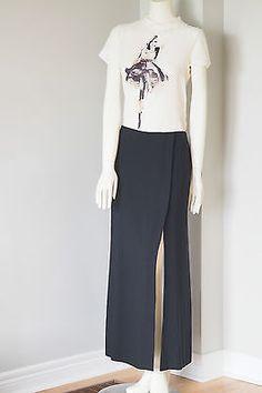 Ellen Tracy  Size 16 Black Wool Flare Skirt