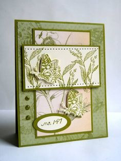 SC327, Olive Butterflies... by Luv Flowers - Cards and Paper Crafts at Splitcoaststampers