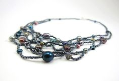 #freeform #beadwork #necklace by Aimee Re