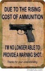 Warning shot.... #LOL #funny