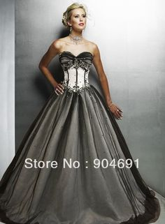 Zorabridal Vintage Gothic Mermaid Beaded Lace Black Wedding Dress ...