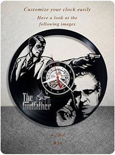 The Godfather vinyl clock, vinyl wall clock, vinyl record...