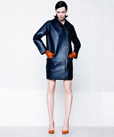 Luxe Leather Photographed by Kacper Kasprzyk. Styled by Jay Massacret.  Harper's BAZAAR