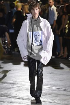 Raf Simons Spring 2017 Menswear Fashion ShowMore Pins Like This At FOSTERGINGER @ Pinterest