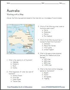 history worksheets 5th grade free printable | ... printable worksheet features a map, followed by six multiple-choice