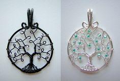 Celtica and Elune (mini pendants) *COMMISSION* by RachaelsWireGarden on DeviantArt
